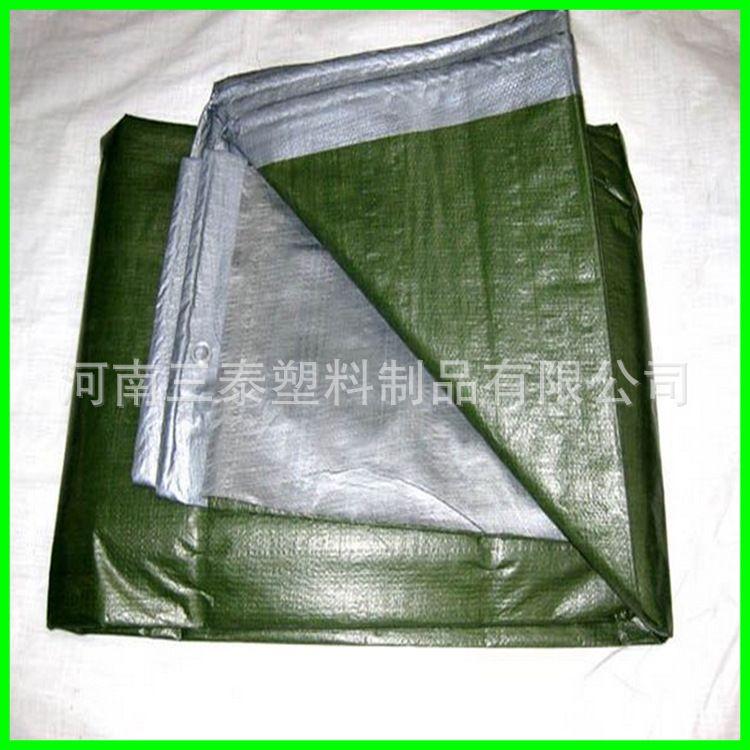 出口品质军绿银篷布货场盖布防水布防晒篷布聚乙烯盖布