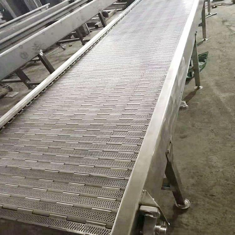 网带输送机 不锈钢网链输送机 食品流水线 冷却输送机 链板输送机