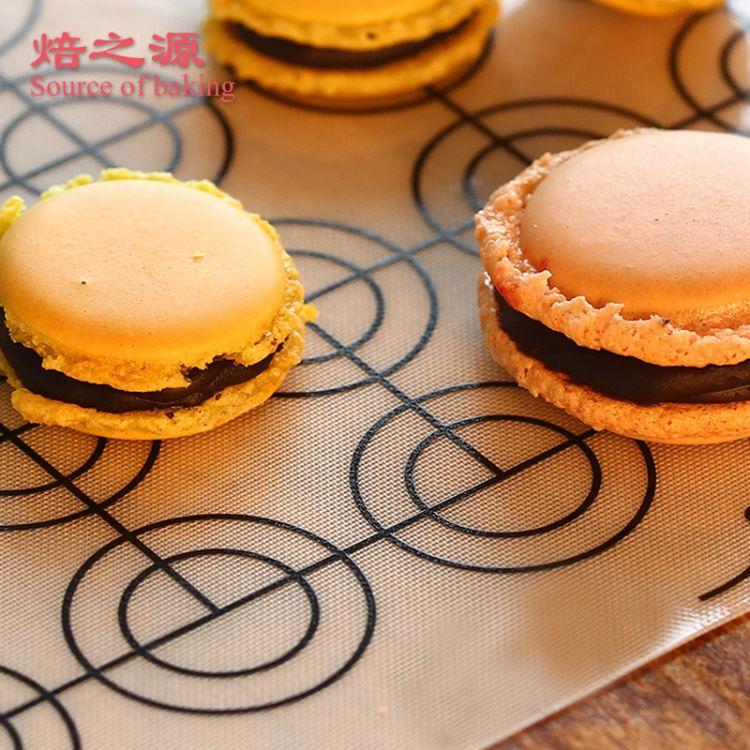焙之源马卡龙专用烘焙硅胶垫工具 马卡龙烘焙模具硅胶烤盘烤箱垫