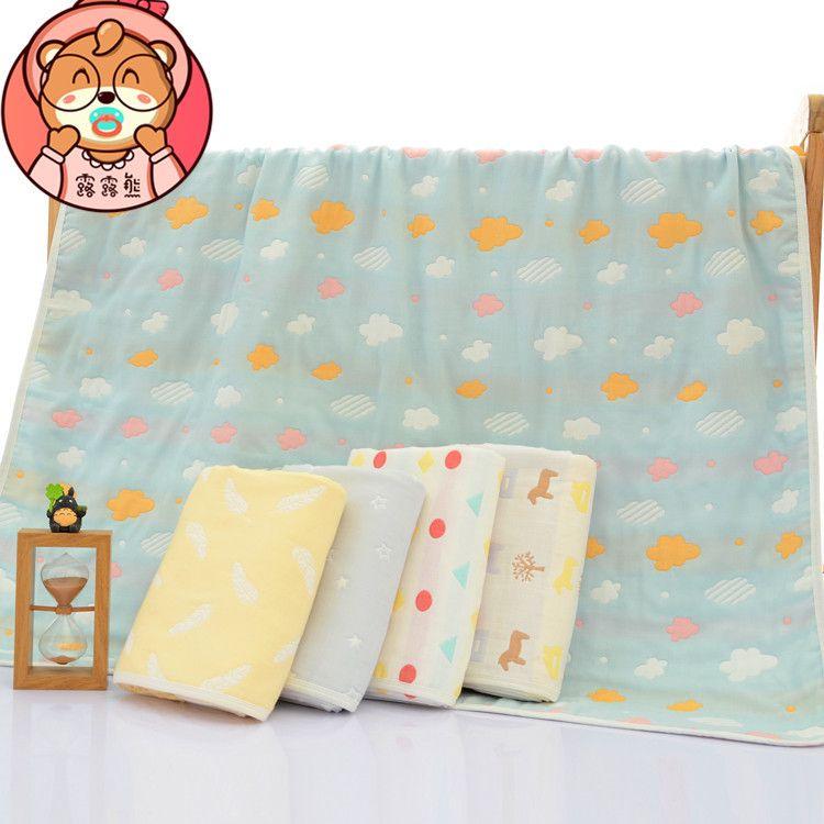 60支高端五层纯棉纱布童被 加厚浴巾 婴童盖毯 宝宝抱被 空调被