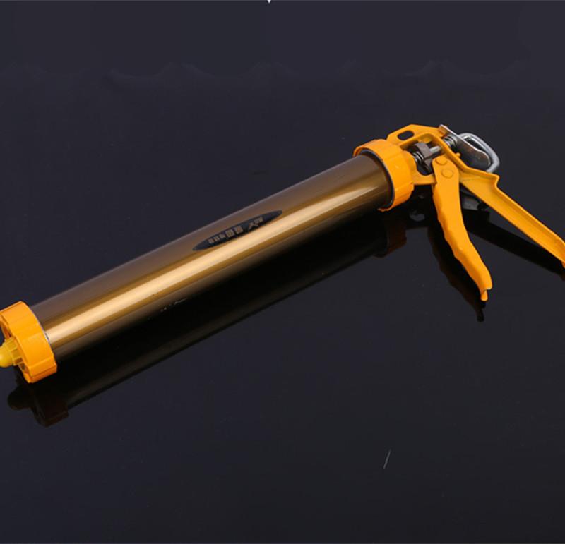 厂家直销加厚古铜995结构胶枪手动铝合金咖啡色软胶枪 结构胶枪