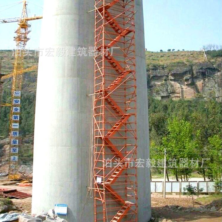 框架式地铁基坑通道 中交中建施工  组合式安全爬梯厂家