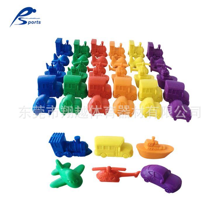 72个6色6款交通工具组 科学计数认识颜色玩具 儿童塑胶动模型玩具