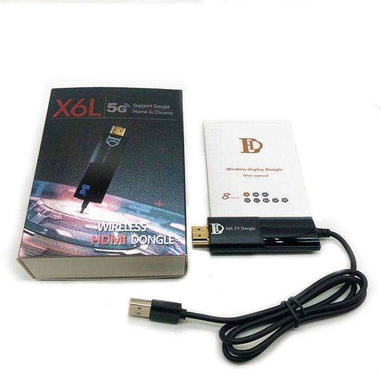 推送宝  新品X6L支持谷歌协议   HDTV DONGLE 5G无线同屏器1080p