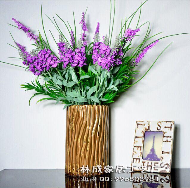 林成陶瓷 花瓶批发仿古做旧 浮雕花瓶 欧式室内装饰艺术摆件