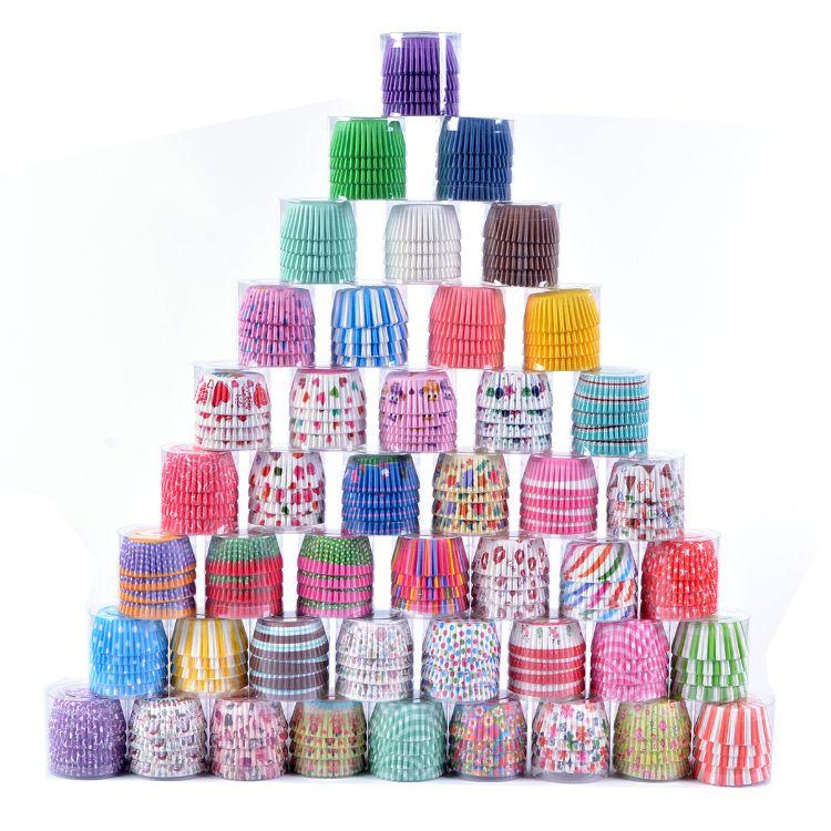烘焙模具蛋糕底托 100个装纯色雪媚娘纸托 彩色印花防油蛋糕纸杯