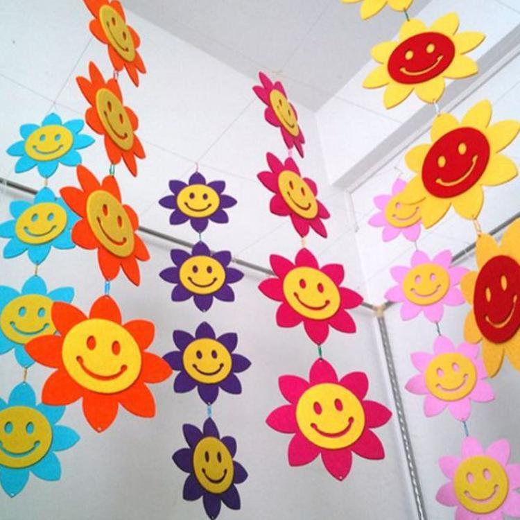 幼儿园装饰吊饰 幼儿园墙贴 教室主题墙壁画 幼儿园装饰藤条定制