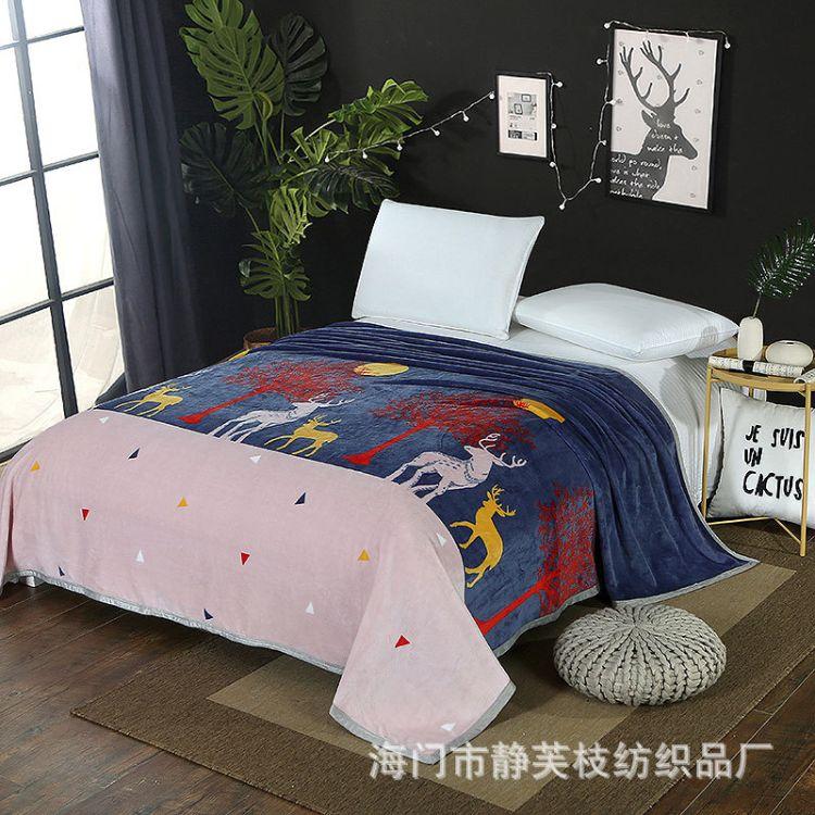 厂家直销云貂绒毛毯法莱绒加厚保暖毯子童毯床单盖毯秋冬礼品批发