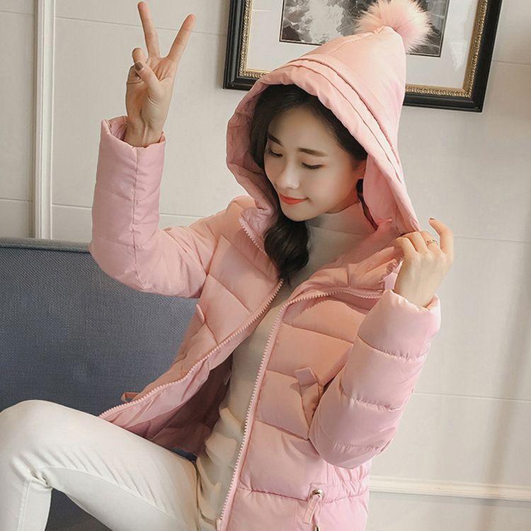 2017新款女装棉衣短款韩版棉服学生修身防寒保暖羽绒棉外套大叶