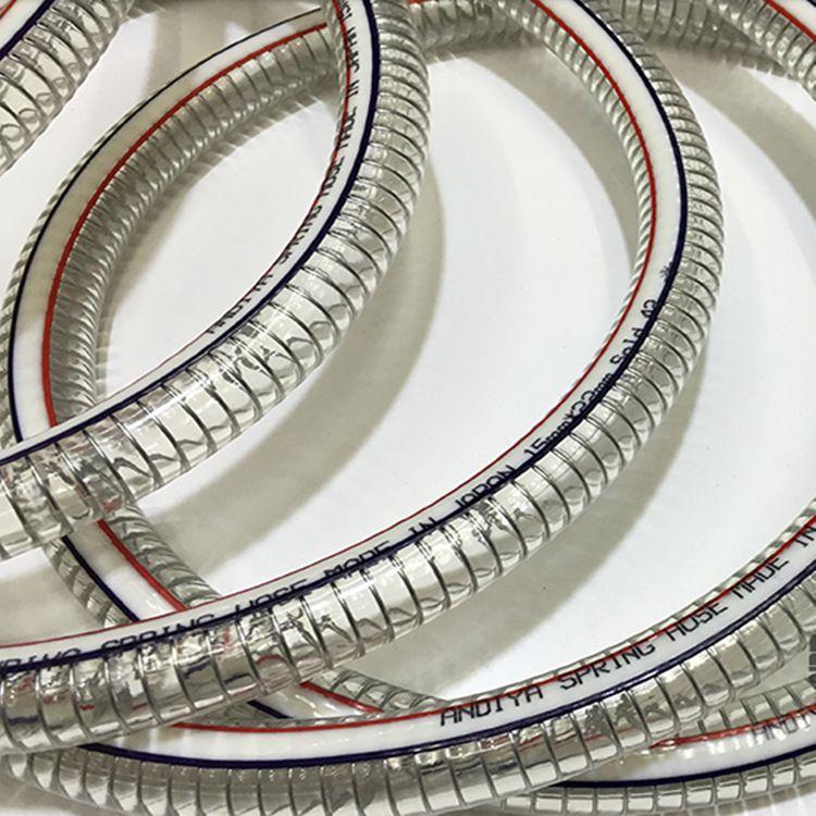 大量供应优质钢丝软管  无毒钢丝管 pvc透明钢丝软管 内径50mm