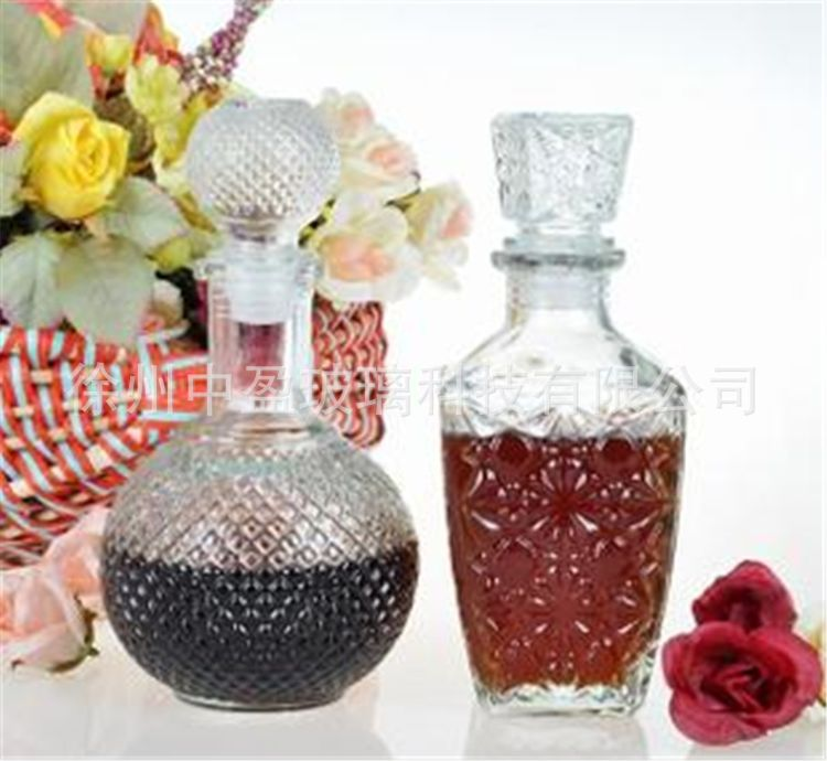 批发1000ml葡萄酒瓶 自酿酒瓶醒酒器  红酒瓶 透明玻璃空瓶子