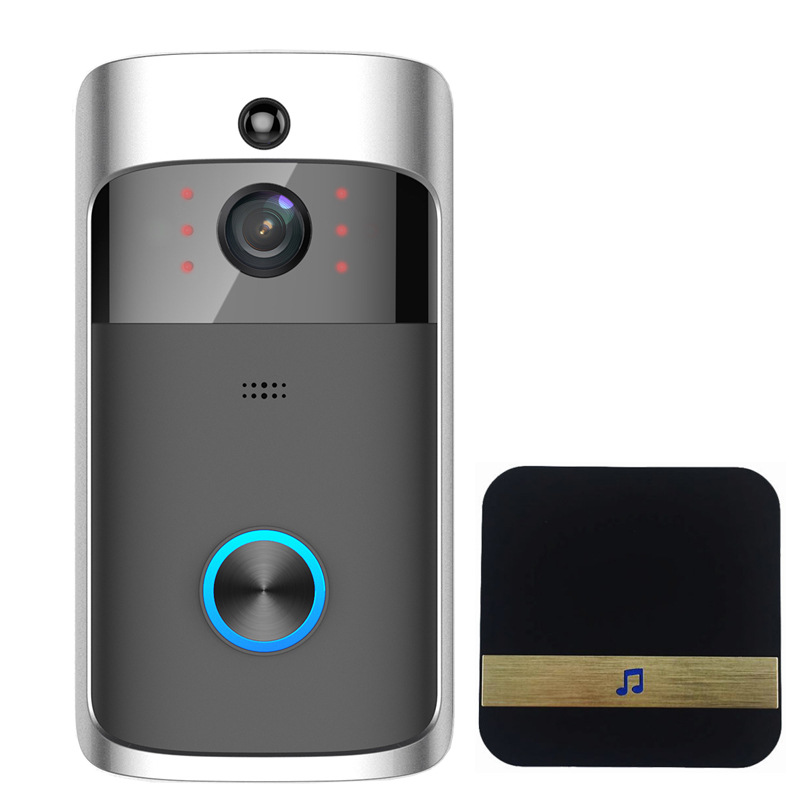 无线智能可视wifi门铃低功耗手机APP远程监控可视对讲家用门铃