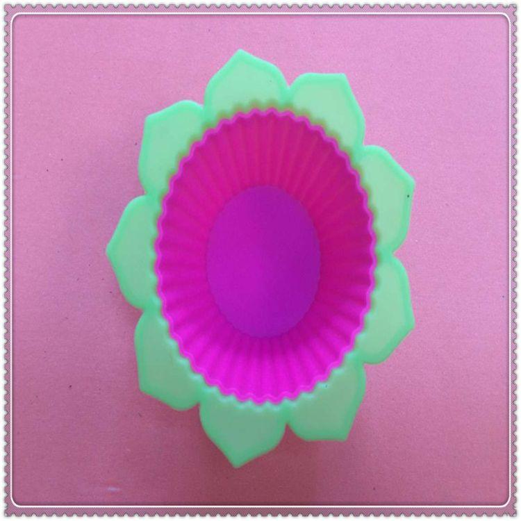 厂家订做翻糖蛋糕硅胶模 DIY烘焙工具 硅胶蛋糕模 双色蛋糕模