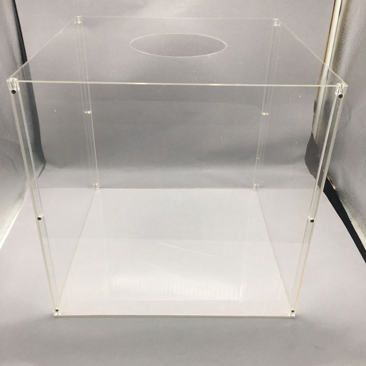 透明压克力收纳方盒 亚格力盒子亚克力盒 透明食品亚克力展示盒子
