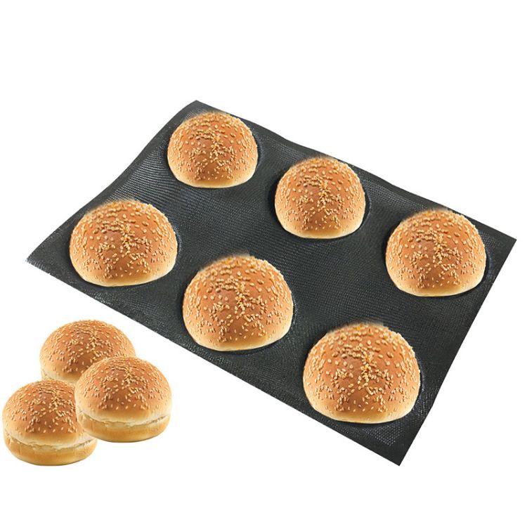 Bluedrop品牌 出口圆面包模具 家用烤箱用硅胶透气模 烘焙工具