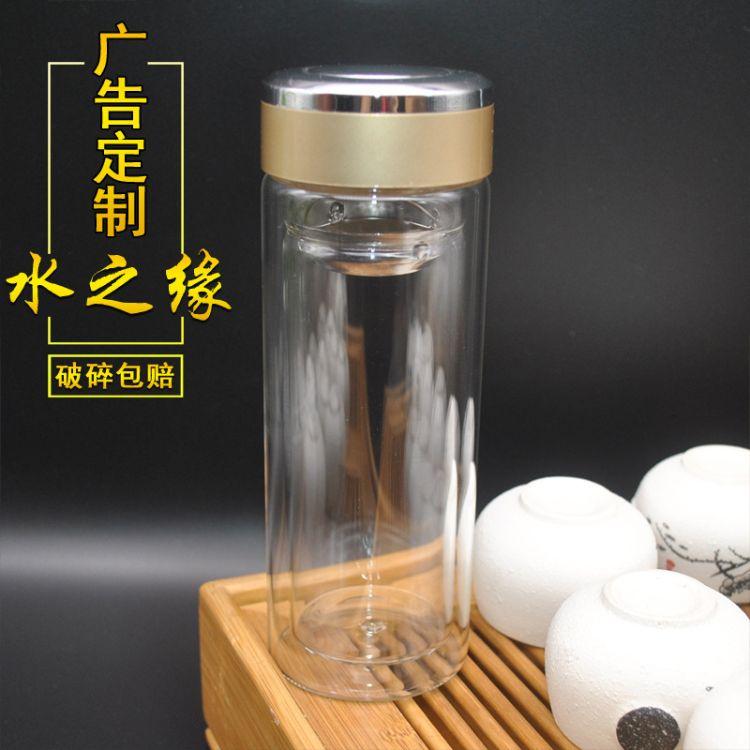 特价广玻璃杯定做 双层水晶玻璃杯印字 加油站促销用玻璃杯