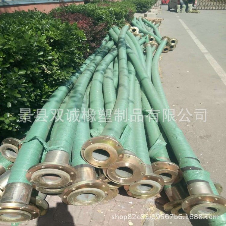 厂家直销大口径高压胶管 法兰式大口径排吸胶管 大口径钢丝胶管