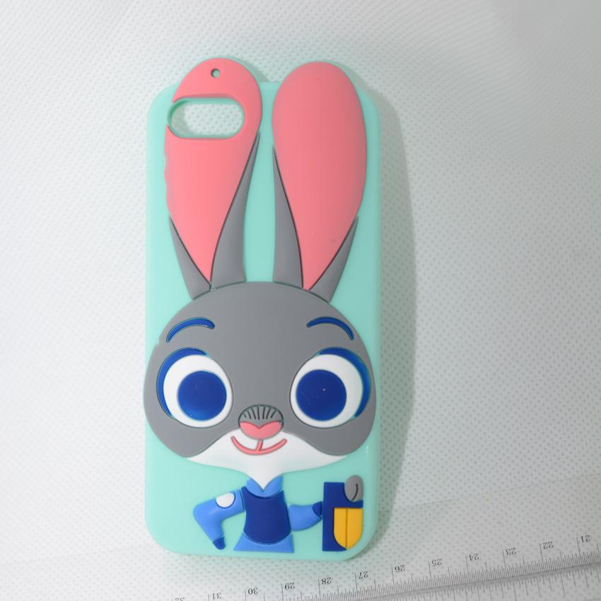 动物城手机壳 苹果iphone6s朱迪兔子硅胶手机套厂家现货代发