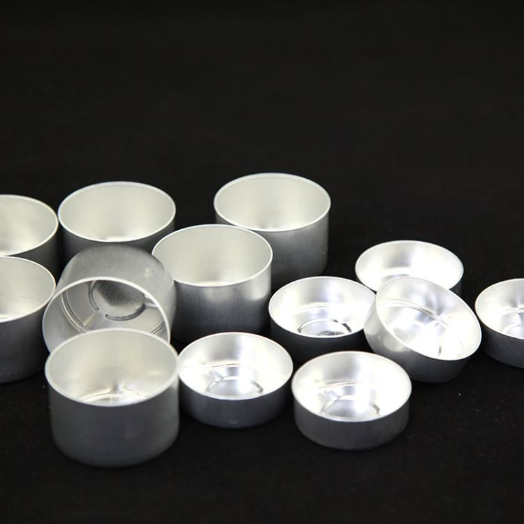 佛教用品厂家直销卷边茶蜡铝壳卷边酥油灯配件蜡烛配件蜡烛杯批发