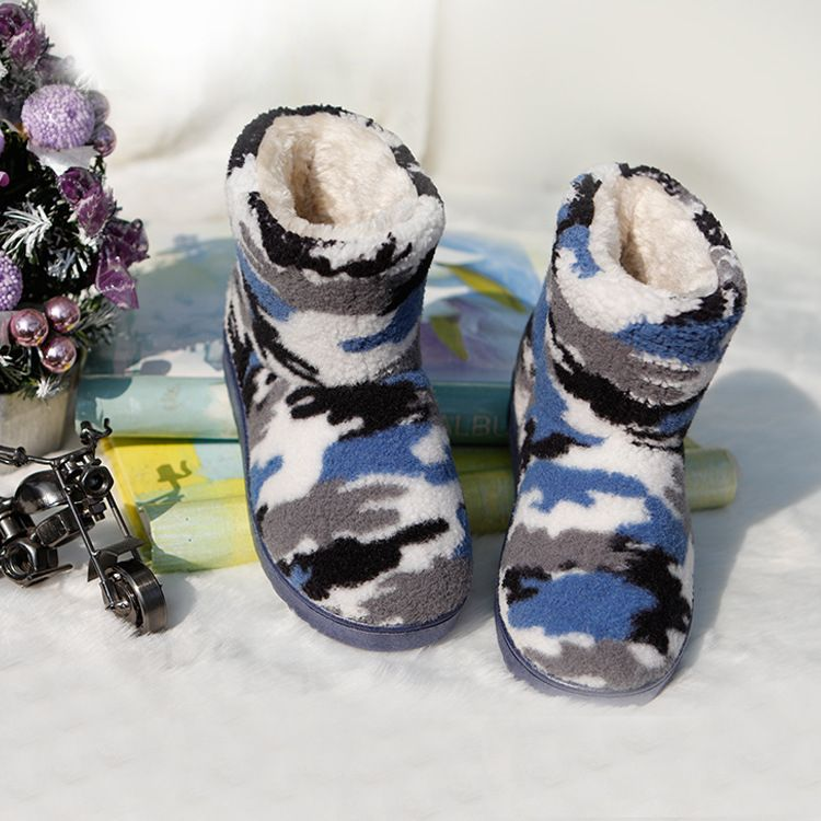 冬季爆款儿童雪地靴韩版时尚迷彩儿童靴保暖靴中大童厂家直销
