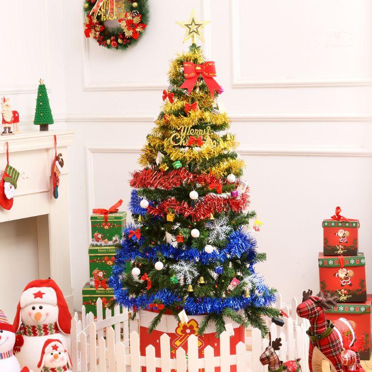 圣诞节装饰圣诞树1.5米套餐 150cm加密发光PVC圣诞装饰套装 批发
