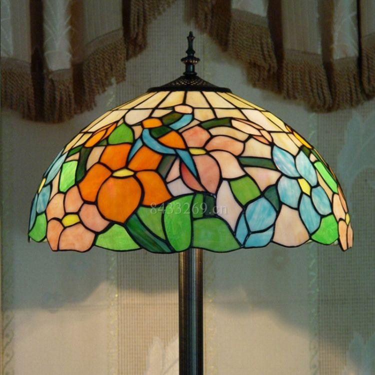 落地灯具欧式复古创意蒂凡尼落地灯客厅书房餐厅酒吧咖啡厅酒店