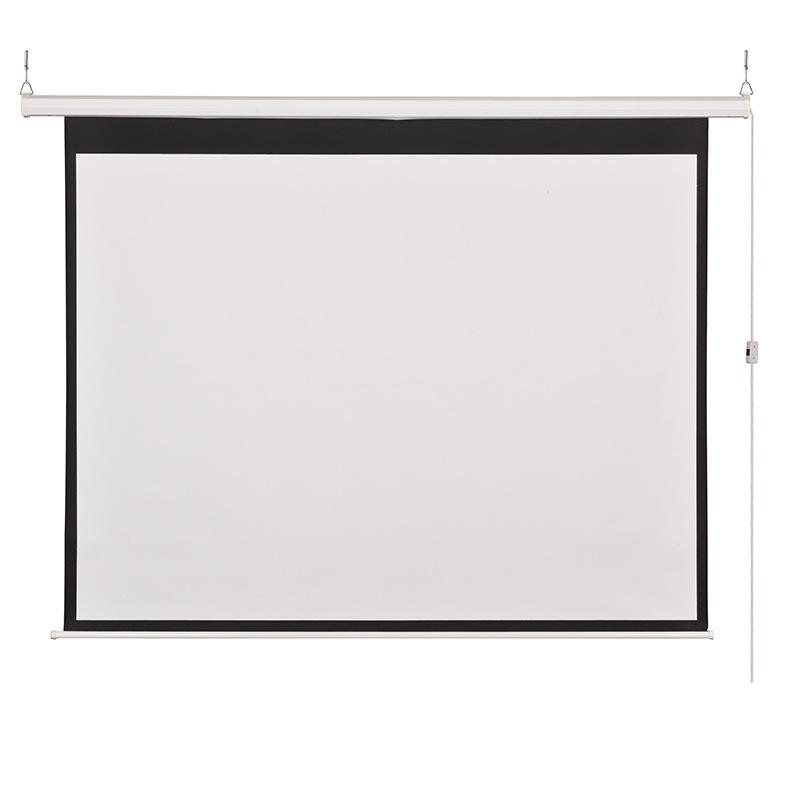 厂家批发电动幕布 150寸大屏投影幕 高增益玻纤材质投幕布