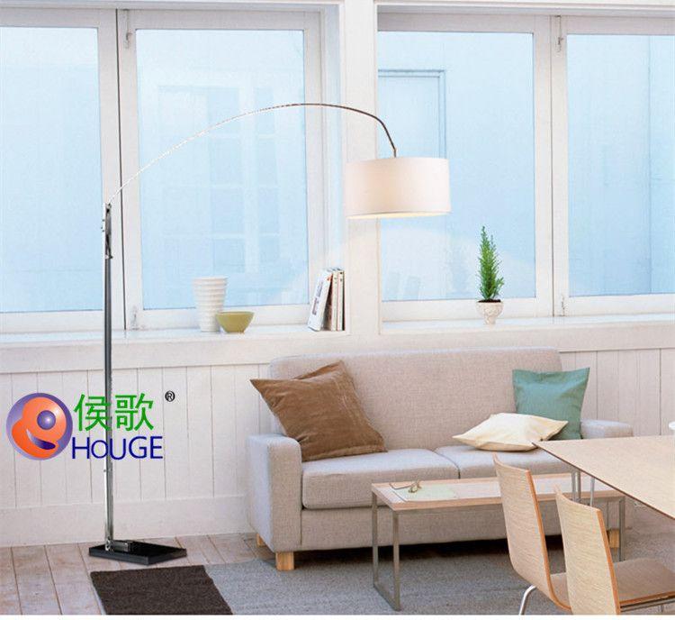钓鱼灯落地灯客厅卧室个性创意北欧家书房简约可调高度可伸缩灯