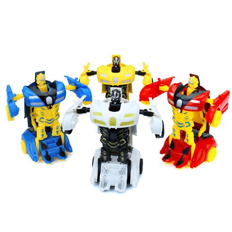 【包邮】5533卡通益智儿童迷你变形玩具车助力变形汽车人玩具