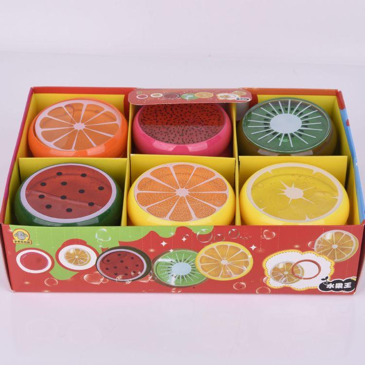 水果水晶泥环保无毒儿童益智玩具透明拉面泥六色透明彩泥
