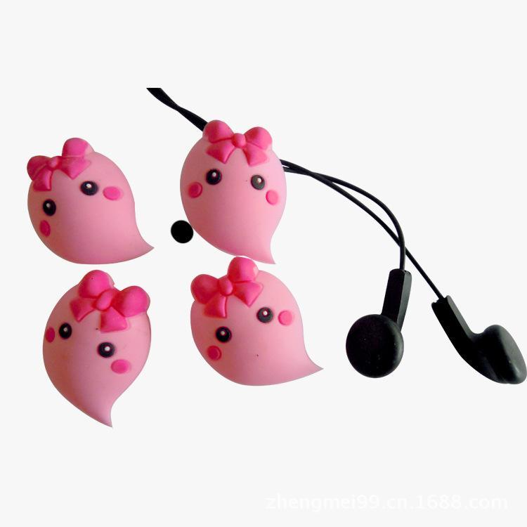 供应可爱卡通PVC耳机绕线器批发 创意数码配件 厂家直销