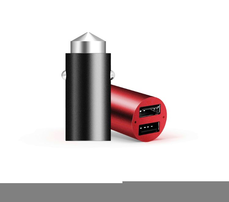 QC3.0双usb铝合金迷你快充车充车载充电器dual usb car charger