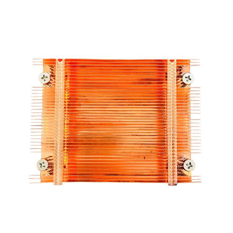 厂家直供200W红铜散热器 大功率紫铜铲片散热系统 铲齿散热器批发