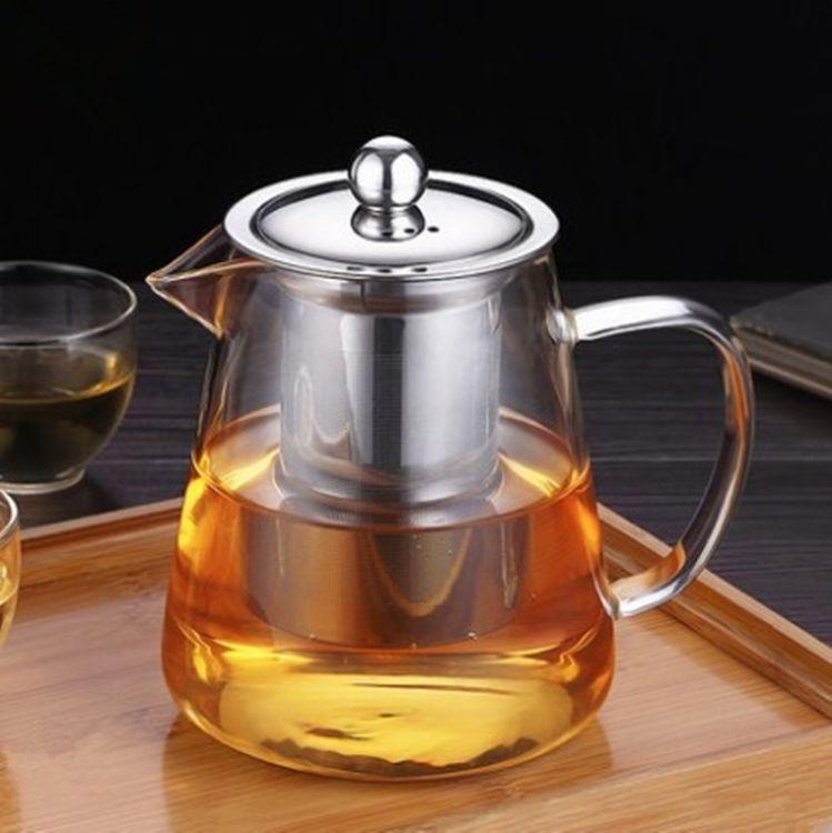厂家供应精致玻璃内胆壶 高硼硅玻璃茶壶 耐高温玻璃茶具批发