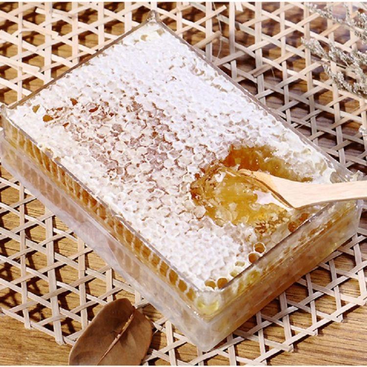 颍海蜂巢蜜500g 荆花蜂蜜成熟封盖蜜 蜂蜜贴牌野生荆花蜂巢蜜