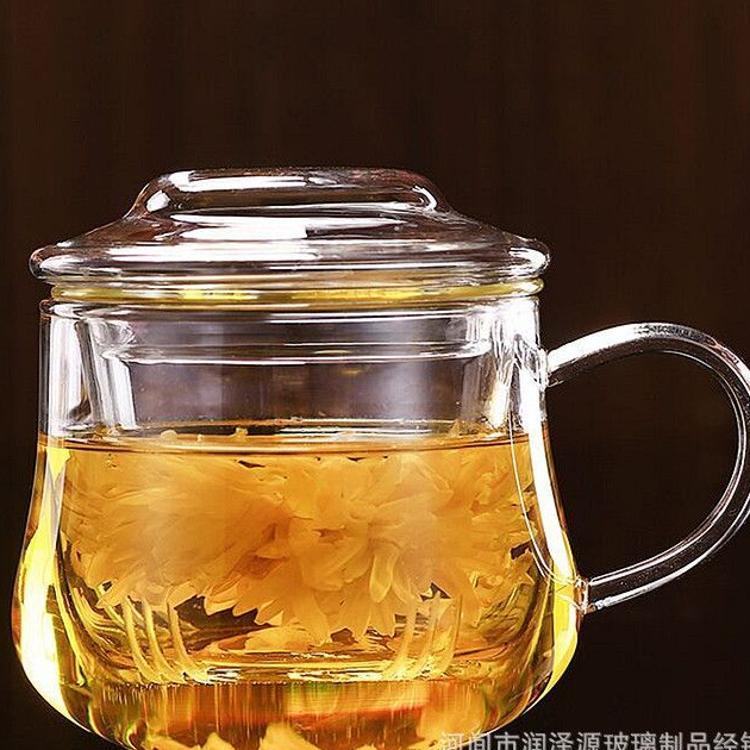 泡茶杯可爱茶杯创意花茶杯异型吹制玻璃杯便携玻璃水杯可爱萌杯