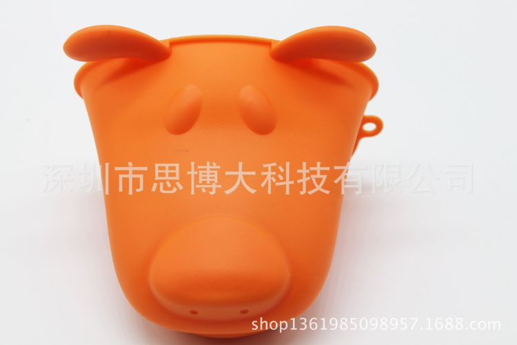 硅胶动物头手套硅胶厨房用品创意独特隔热防烫