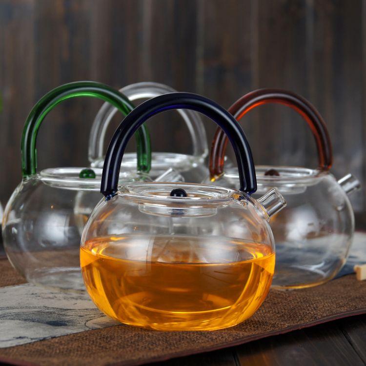 超净透加厚耐热玻璃沸水壶电陶炉烧水壶明火直烧煮茶壶玻璃提梁壶