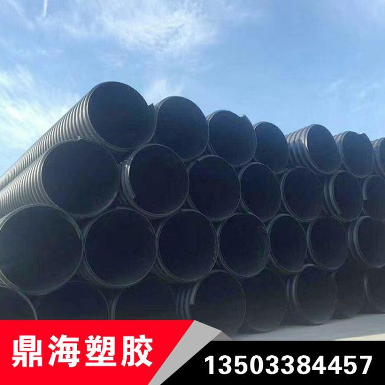 螺旋钢带增强波纹管HDPE钢带增强螺旋波纹管600钢带增强波纹管