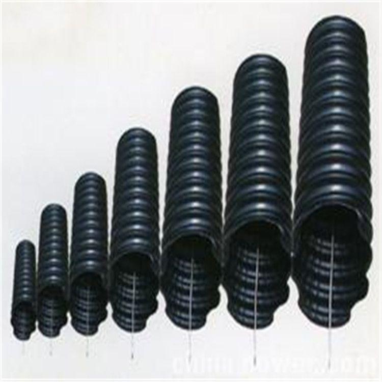 厂家直销 pe碳素管 桥梁穿线管 HDPE碳素波纹管螺纹管PE穿线管