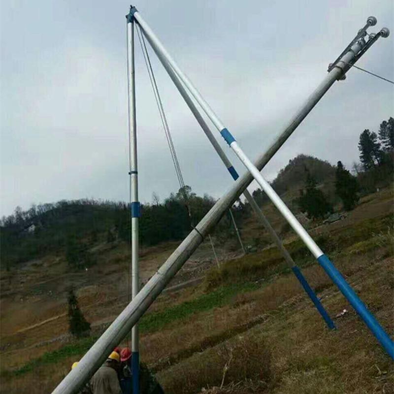 三角立杆机价格20.15米电杆立杆拔杆价格 12米水泥杆立杆器