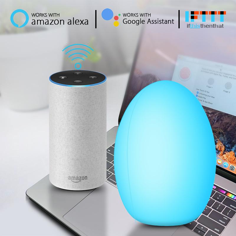 拍拍变色wifi声控款 wifi智能灯泡 居家必备台灯 智能氛围灯