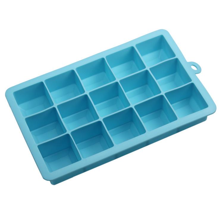 厂家直销 硅胶15格方形冰格  DIY冰块模 硅胶冰格模具