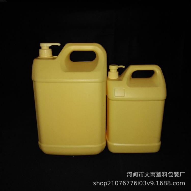 5升 10升洗洁精桶 10公斤带泵头塑料桶 10L洗洁精瓶 大量批发