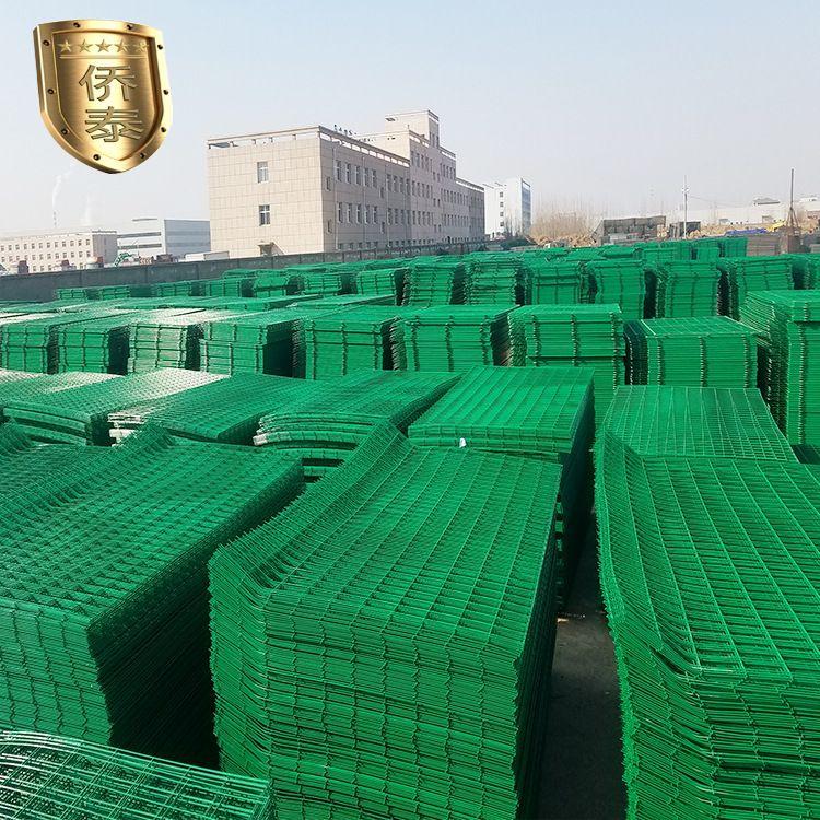厂家直销双边丝护栏网防护网 浸塑铁丝网养殖场围栏围网防护网