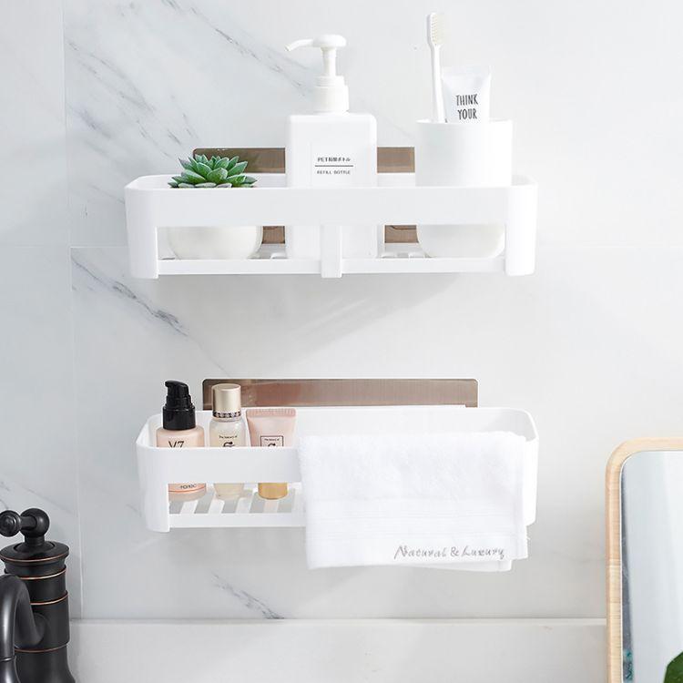 盘辉无痕置物架长方三角形厨房卫生间浴室免钉打孔置物架收纳架#