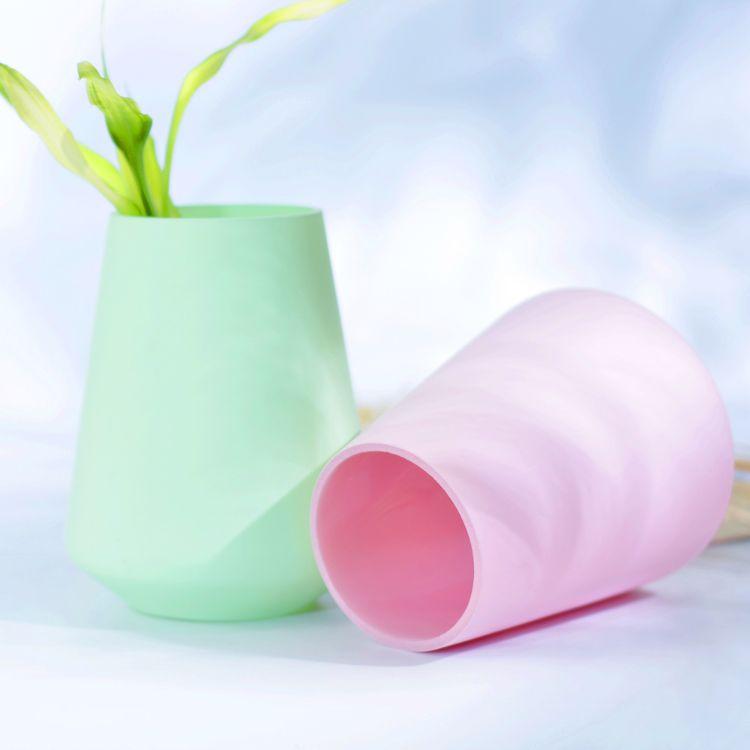 彩色玻璃花瓶 简约清新插花花瓶 批发玻璃花瓶