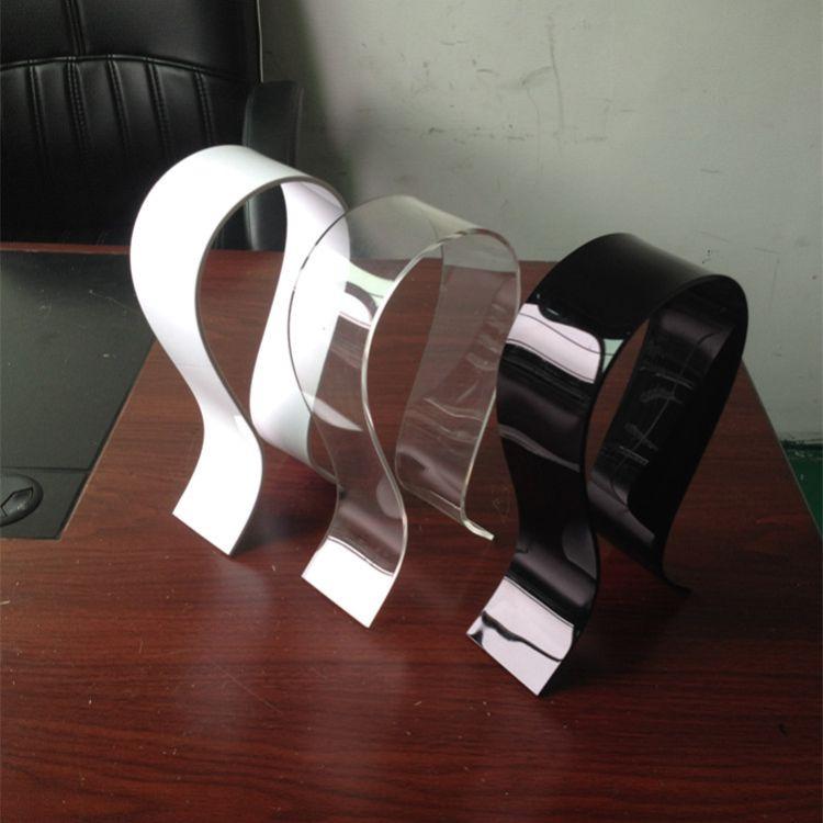 现货亚克力耳机展示架 有机玻璃耳机支架 有机玻璃U型耳机架