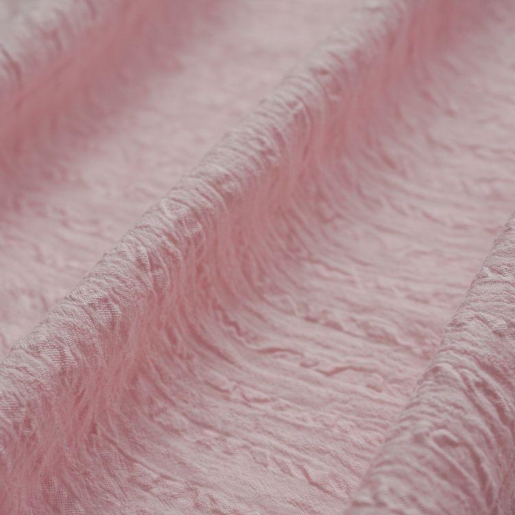 全棉绉布面料 连衣裙染色透气日韩纹理感皱服装面料现货工厂批发