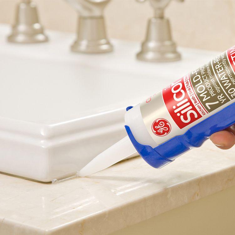 美国GE防霉玻璃胶 中性硅酮防水防霉厨房卫浴填缝密封胶
